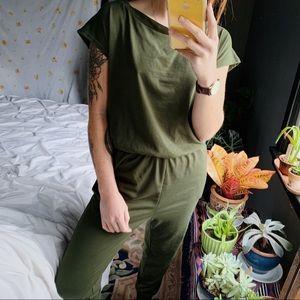 Boho Short Sleeve Jumpsuit